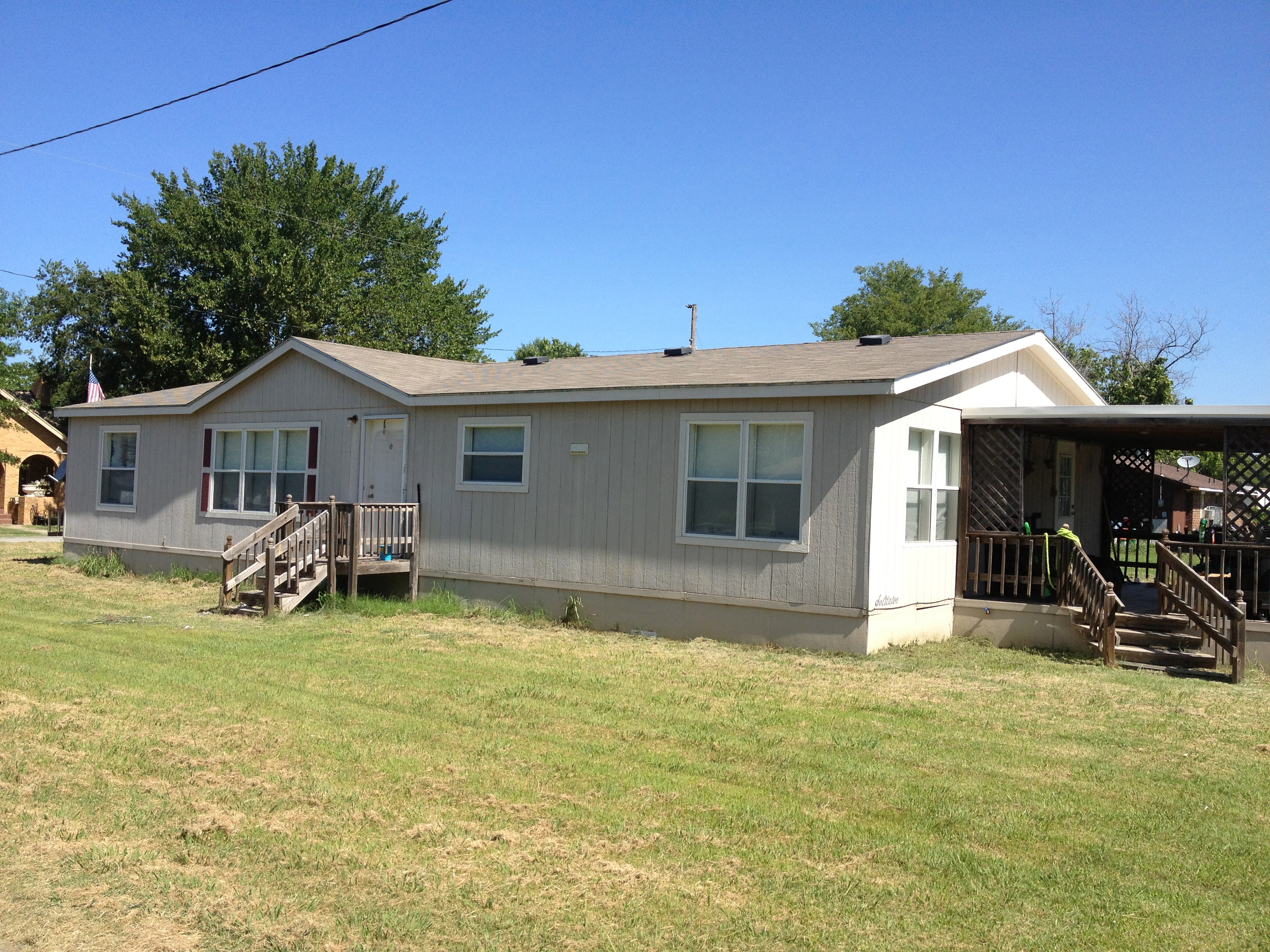 Mobile home for rent in allen ok 74825 for Three bedroom mobile homes for rent